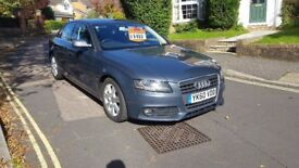 2010 AUDI A4 SE 2.0 TDI SALOON MANUAL GREY FULL SERVICE HISTORY NEW CLUTCH 12 MONTHS MOT 3 KEYS