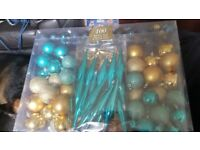 Brand new 100 xmas bauble pack