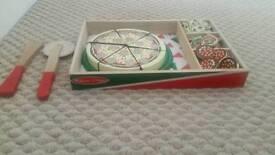 Melissa and Doug wooden pizza set