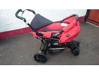 ++++++PRICE REDUCED++++++++ Jane Slalom Travel System in red and black