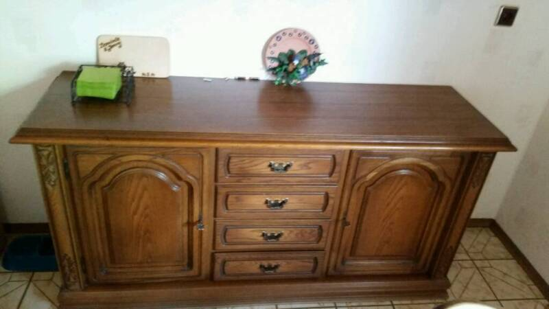 eiche rustikal sideboard in bayern leinach ebay. Black Bedroom Furniture Sets. Home Design Ideas