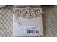 Authentic Jenny Packham Bridal Wedding Cuff Bracelet NEW IN BOX PEARL AND CRYSTAL DESIGNER dress