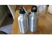 Brand new Clip on water bottle aluminium 500ml