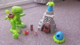 Happyland dinosaur set
