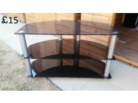FOR SALE TV glass table in very good condition