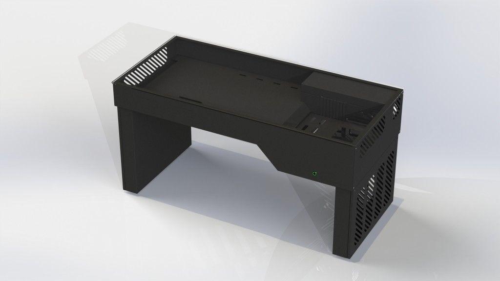Hydra Aluminium Desk Case Tempered Glass