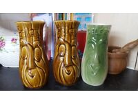 Vintage face jars/vases