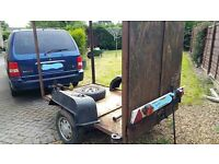 BOX TRAILER/ CHASSIS/PROJECT - IDEAL FOR BIKE/S ETC 3 X STABILIZER , TOWSURE PARTS, SPAREWHEEL