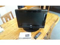 "19"" lcd tv with built in dvd (possible audio glitch?) dgm ltv-1929whtc"