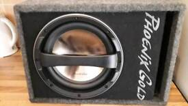PHOENIX GOLD SUBWOOFER WITH AMP (NEW) CHEAP!!