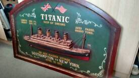 Titanic picture wall art 3ft x 2ft