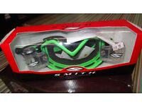 smith pro series racer pack goggles for motocross motox quad enduro green