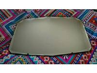 Vintage frameless mirror a quality item.