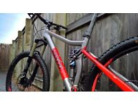"VooDoo Canzo Full Suspension Mountain Bike- 16"" frame 27.5"" tyres nearly new"