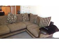 Large brown cornor sofa!