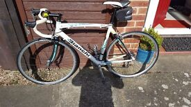 Bianchi Road Bike. 57cm frame. Campagnolo Gears. Converted to a triple.