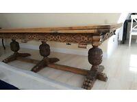 Dinning room mahogany reproduction Jacobean table