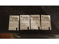 4no alton towers tickets