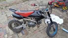 110cc pitbike FRONT BRAKE ONLY