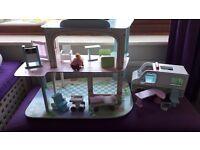 Childrens toy hospital set with ambulance