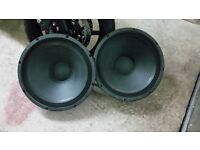 """Pair of Eminence Pro 18"""" Bass Drivers , each 800w RMS Further reduced to £50"""