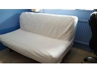 White Ikea Lycksele 2-Seater Sofa bed.