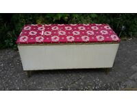 Retro / vintage bed box / seat - DELIVERY AVAILABLE