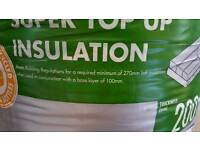 2 rolls of Knauf 200mm Super Top Up Loft Roll Insulation 5.61m2