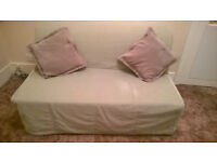 Sofa Bed - IKEA LYCKSELE+ Blanket box and new spare white cover'