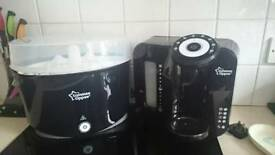 Tommee tippee perfect prep and sterilisation unit and bottle warmer black