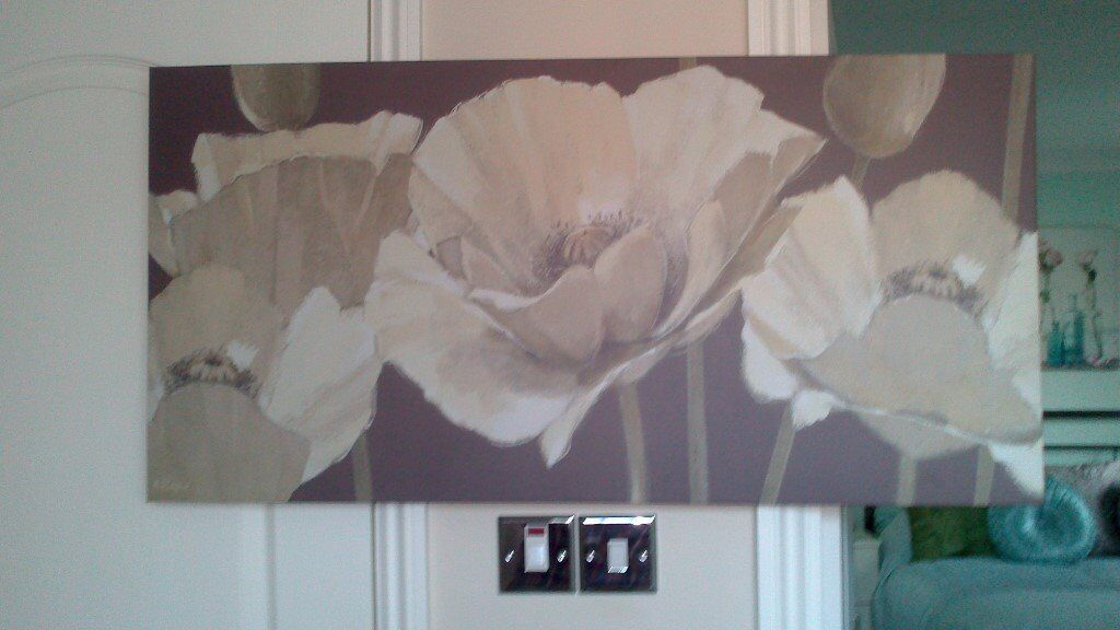 Canvas type, flower Picture