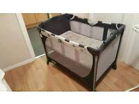 Joie charcoal grey travel cot