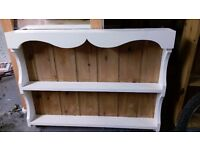 Plate rack - cream and pine coloured