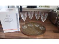 Brand New Handcut Crystal Italian Wine Glasses