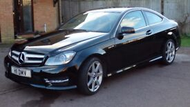 Mercedes C220 AMG Sport Coupe 2012 Manual 6 Gear, Low Mileage 46K!!!