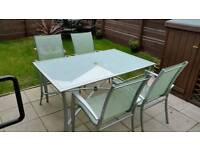 Garden furniture/patio set/table chairs