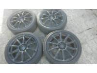 "Inovit Tarmac 5x100 and 5x114.3 18"" alloy wheels"