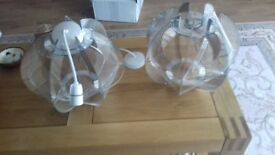lounge light shades. brand new shades cost £80 the pair. for sale £40.00 the pair