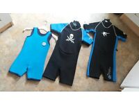kids Wet Suits £5.00 each great for keeping your kids warm.