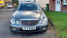 MERCEDES E280 CDi SPORT 2007 SALOON, AUTO 7G BOX, METALLIC GREY, BLACK LEATHER