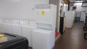 Stacking washer and dryer. 90 day warranty. $799.