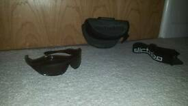 Dirty Dogg glasses with ski strap and case