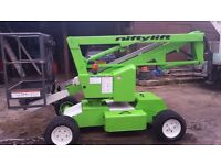 Multiple scissor lifts and cherry pickers for sale, 1930/1932s, 26/46,2668RT, HR12s, Hinowa tracked.