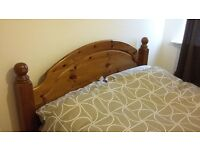 Pine furniture 2 x double beds with mattress, wardrobe, drawers, tv unit, bedside cabinet