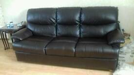 3-1-1 Faux Brown Leather Suite