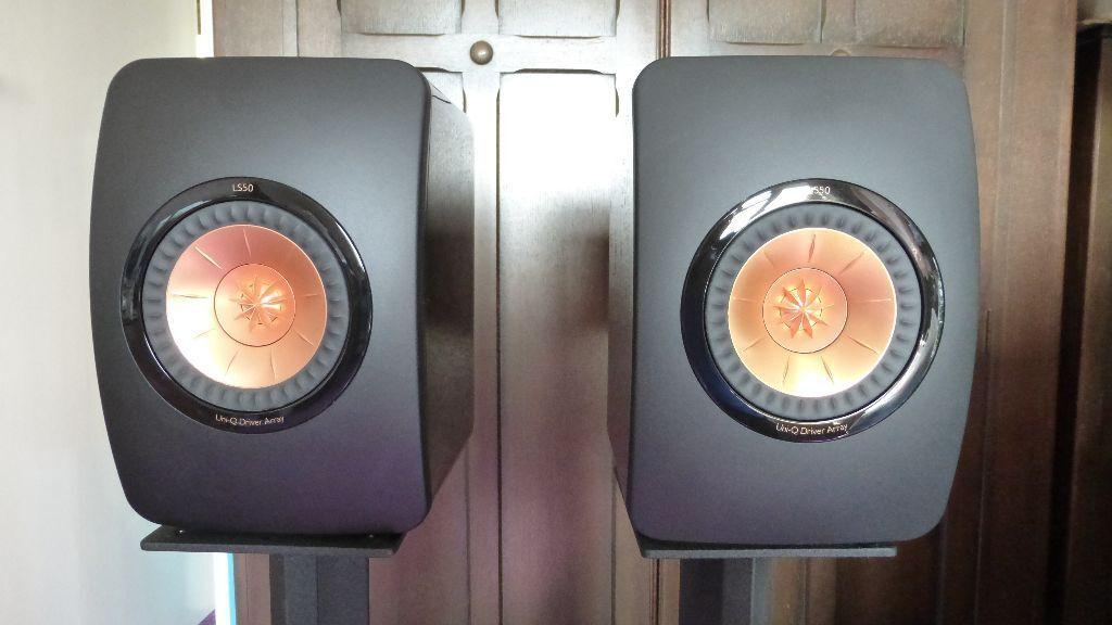 kef ls50 speakers black hardly used in great baddow essex gumtree. Black Bedroom Furniture Sets. Home Design Ideas