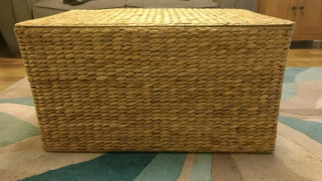 Water hyacinth blanket box storage chestin Mountsorrel, LeicestershireGumtree - Storage box, used as a toy box for a year or so. Some minor scuffs above one of the handles, see pic. Currently available in dunelm for 34.99. dunelm description this natural coloured basket is crafted from water hyacinth wicker and features two...