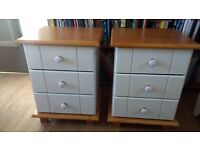 2 solid bedside tables good quality