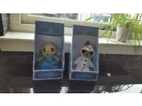 Elsa and olaf meerkat frozen soft toys new with certificates
