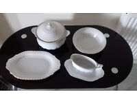 4 Piece Classic White Dinner Assorted Set